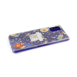 Силиконовый чехол Huawei Honor 9a прозрачный, блестки сердечки, flower pattern