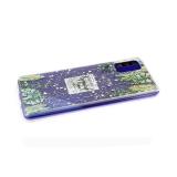 Силиконовый чехол Huawei Honor 9s прозрачный, блестки сердечки, тропики