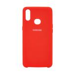 Силиконовый чехол Silicon Cover для Samsung Galaxy A31 с логотипом, улучшенное качество, красный
