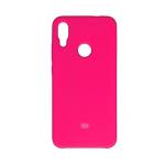 Силиконовый чехол Silicon Cover для Samsung Galaxy A31 с логотипом, улучшенное качество, розовый