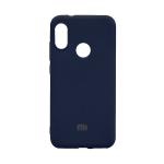 Силиконовый чехол Silicon Cover для Samsung Galaxy A11 с лого, улучшенное качество, темно-синий