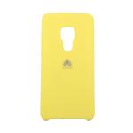 Силиконовый чехол Silicon Cover для Huawei Y5 2018/7A с логотипом, улучшенное качество, желтый