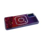 Силиконовый чехол Samsung Galaxy A50 с жидкими блестками, соц сети, инста