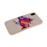 Силиконовый чехол Iphone 11 тактильный принт, Likee космос, пудра