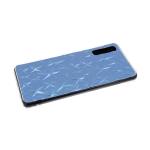 Силиконовый чехол Xiaomi Redmi 7a тактильный со звездочками, прозрачный борт, синий