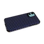 Силиконовый чехол Samsung Galaxy A50 тканевый, 3Д камера, чешуя рептилии, антишок углы, синий