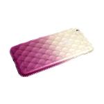 Силиконовый чехол Samsung Galaxy A40 выпуклые прозрачные ромбы с переходом, стразы, фиолетовый