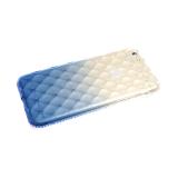 Силиконовый чехол Xiaomi Redmi 7 выпуклые прозрачные ромбы с переходом, стразы, синий