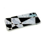 Задняя крышка Iphone 7 Plus/8 Plus цветная геометрия, антишок, бело-черная