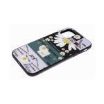 Задняя крышка Samsung Galaxy A50 цветной принт, черный борт, ромашка Mon