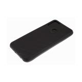 Силиконовый чехол Xiaomi Mi Note 10 Lite эко-кожа, черный борт, полосы по боками, 3Д камера, черный