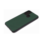 Силиконовый чехол Huawei Honor 9c эко-кожа, черный борт, полосы по боками, 3Д камера, зеленый
