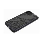 Силиконовый чехол Samsung Galaxy A11 однотонный, цвет металлик, узоры, черный