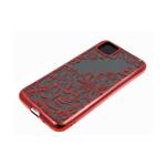 Силиконовый чехол Samsung Galaxy A11 однотонный, цвет металлик, узоры, красный