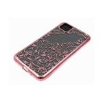 Силиконовый чехол Samsung Galaxy A11 однотонный, цвет металлик, узоры, розовый