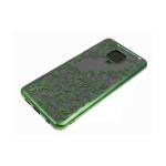 Силиконовый чехол Huawei Honor 9c однотонный, цвет металлик, узоры, зеленый