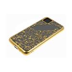 Силиконовый чехол Samsung Galaxy A11 однотонный, цвет металлик, узоры, золото