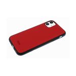Силиконовый чехол Huawei Y6p 2020 под кожу, Hoco, черный борт, красный