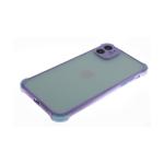 Чехол для Samsung Galaxy A31 полупрозрачная, цветные антишок углы, сиреневая