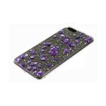 Задняя крышка Samsung Galaxy A51 прозрачная, с мелкой фольгой, мелкие цветные камни, фиолетовый