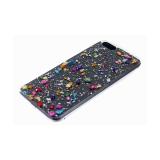 Задняя крышка Samsung Galaxy A51 прозрачная, с мелкой фольгой, мелкие цветные камни, разноцветная