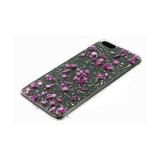 Задняя крышка Samsung Galaxy A51 прозрачная, с мелкой фольгой, мелкие цветные камни, сиреневый