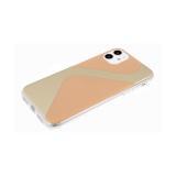 Задняя крышка Iphone 7/8 прозрачный борт, с зеркальным эффектом, бежевая