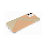 Задняя крышка Huawei Honor 20 Lite прозрачный борт, с зеркальным эффектом, бежевая