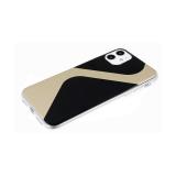 Задняя крышка Iphone 7/8 прозрачный борт, с зеркальным эффектом, черная