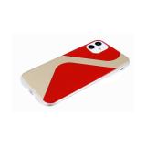 Задняя крышка Iphone 7/8 прозрачный борт, с зеркальным эффектом, красная
