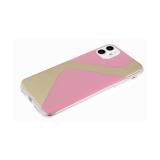 Задняя крышка Iphone 7/8 прозрачный борт, с зеркальным эффектом, розовая