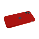 Силиконовый чехол Huawei Honor 10 Lite Soft Touch матовый однотонный с логотипом, бархат, красный