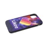 Задняя крышка Samsung Galaxy A01 core эффект битого стекла, яркий рисунок, Likee