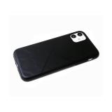Силиконовый чехол Xiaomi Redmi Note 9 Pro эко кожа, черный борт,