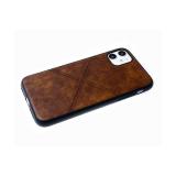 Силиконовый чехол Iphone 6/6S эко кожа, черный борт,