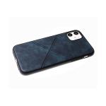 Силиконовый чехол Samsung Galaxy M11 эко кожа, черный борт,