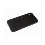 Силиконовый чехол Huawei Honor 9c huida, с прострочкой, черный борт, черный