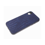 Силиконовый чехол Huawei Honor 9c изогнутое плетение, черный борт, синий