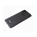 Силиконовый чехол Huawei Honor 9c крупный крокодил с фигуркой, черный