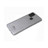 Силиконовый чехол Huawei Honor 9c крупный крокодил с фигуркой, серебро