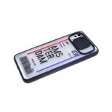 Задняя крышка Xiaomi Redmi Note 9 Pro матово-прозрачна, ребристая свап-камера, с рисунком, АМС