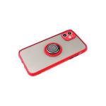 Задняя крышка Samsung Galaxy M51 матово-прозрачная, с кольцом-держатель с магнитом, красная