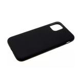 Силиконовый чехол Samsung Galaxy A51 матово-утолщенный с бархатом внутри, черный