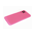 Силиконовый чехол Huawei Honor 9c матовый, однотонный, цветные кнопки, розовый