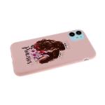 Силиконовый чехол Iphone 6/6S матовый, однотонный с принтом, princesses