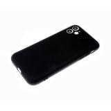 Силиконовый чехол Iphone 12 (5.4) матовый, однотонный soft-touch, бархат внутри, черный
