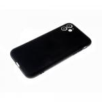 Силиконовый чехол Xiaomi Redmi 9a матовый, однотонный soft-touch, бархат внутри, черный