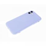 Силиконовый чехол Iphone 12 Pro (6.1) матовый, однотонный soft-touch, бархат внутри, голубой