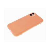 Силиконовый чехол Huawei Honor 9a soft touch, барххат внутри, в коробке, розовое-золото