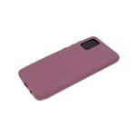 Силиконовый чехол Samsung Galaxy A12 матовый, однотонный soft-touch, бархат внутри, бордовый